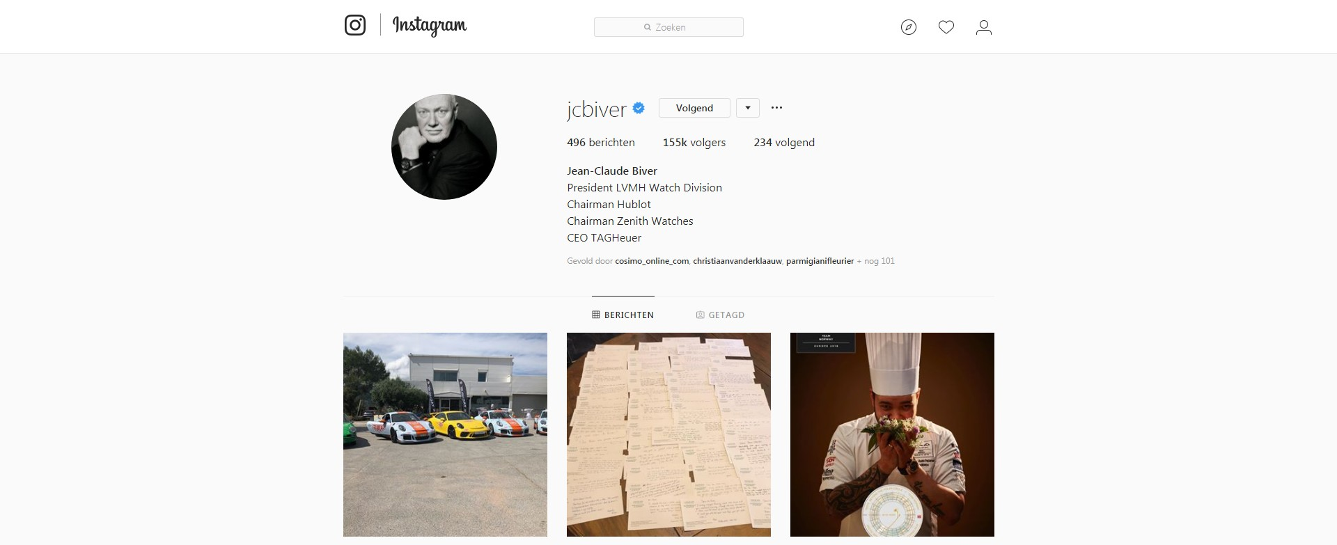 Instagram swiss watch brand CEO The Ace List - who to follow