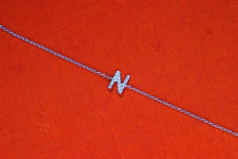 Letter Diamond Bracelet